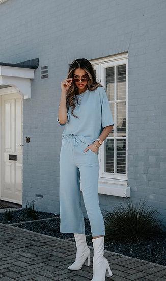 Summer Loungewear Co Ord Set in Blue