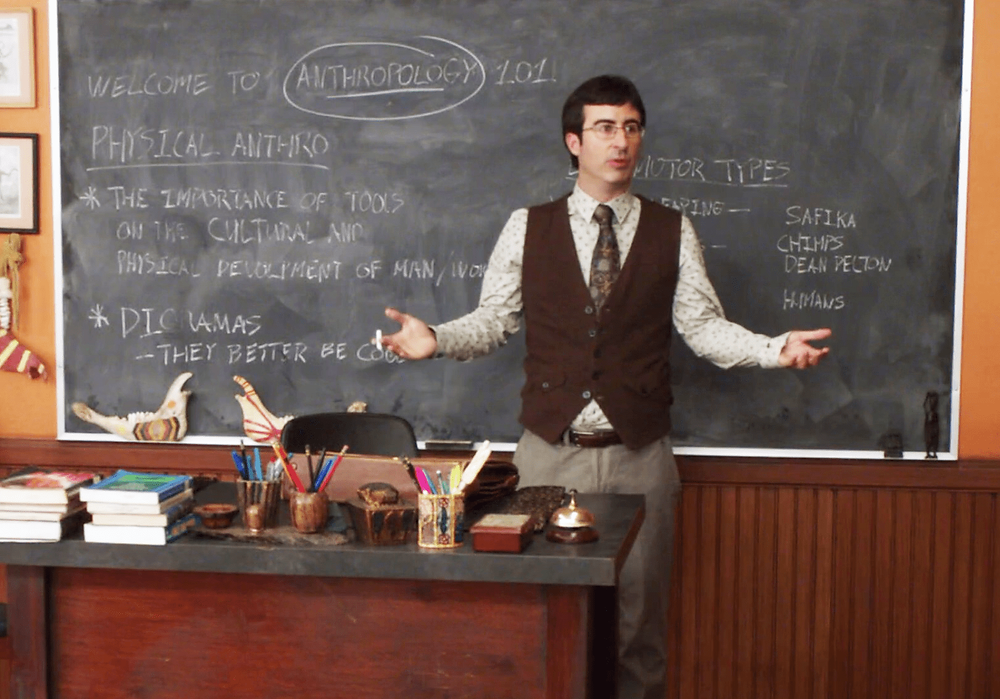 Professor Slater from Community as the professor in college that thinks his class is the only one.