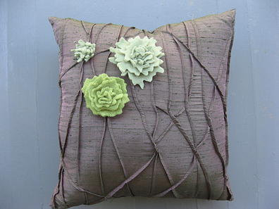 Bark and Lichen Square Pillow