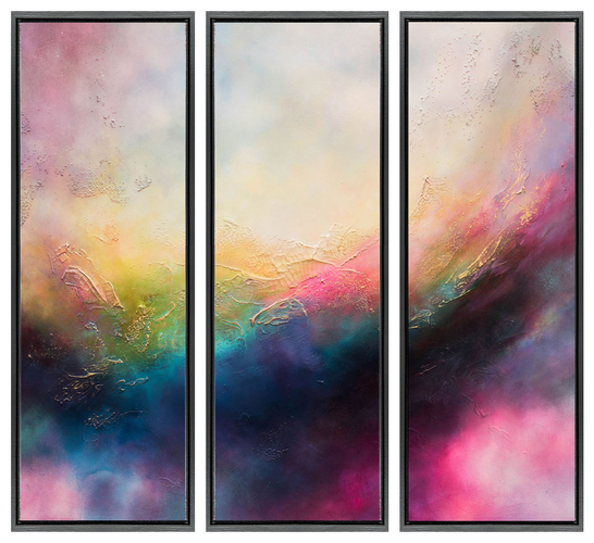 Candy Carnival I / II / III Three stunning floating canvases.