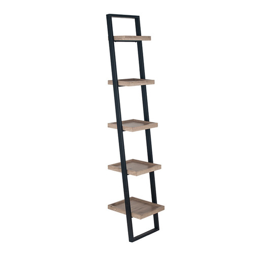 Industrial Style 5 Shelf Ladder Unit