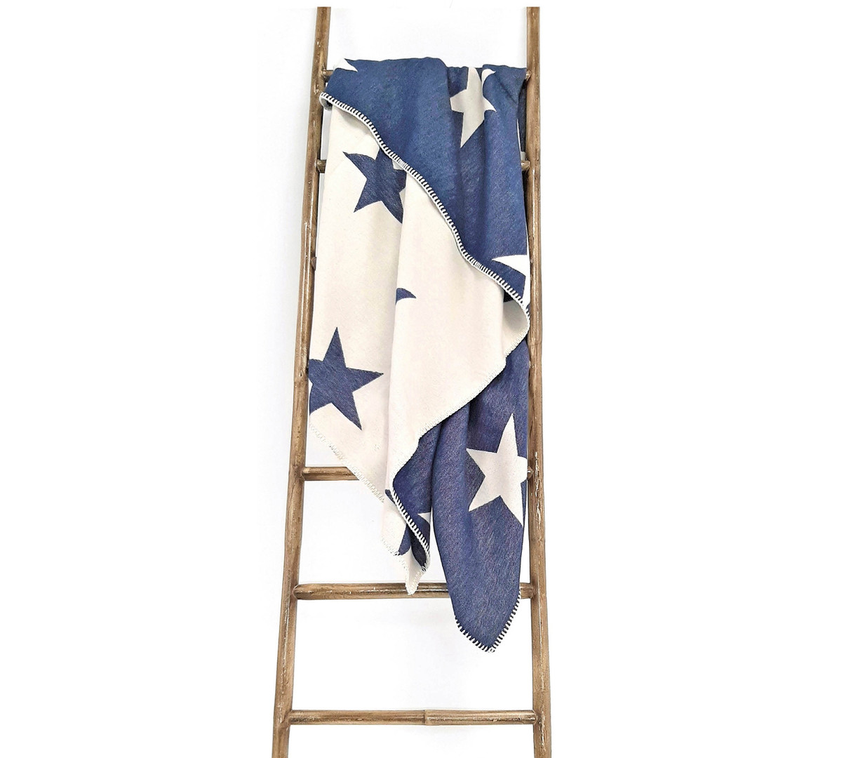Star Organic Cotton Throw in Navy
