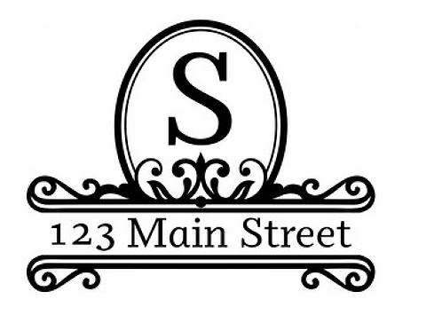 Initial & Address Decal