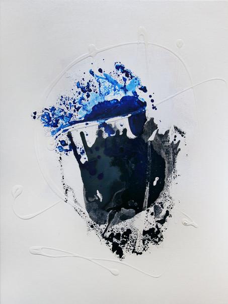 Ink Painting - Cyan 1