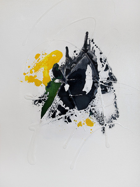 Ink Painting - Yellow 1