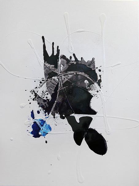 Ink Painting - Cyan 2
