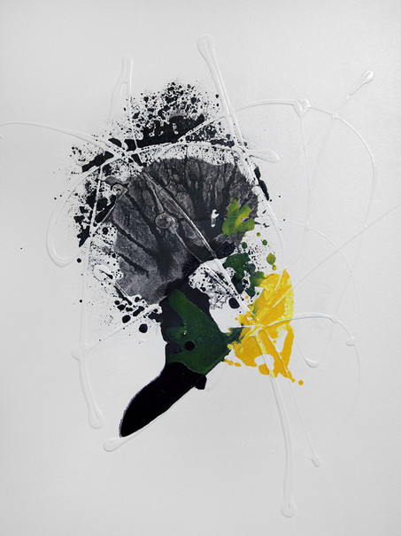 Ink Painting - Yellow 2