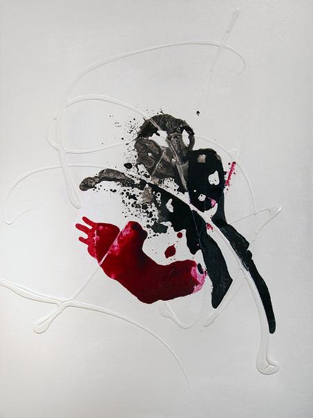 Ink Painting - Magenta 1