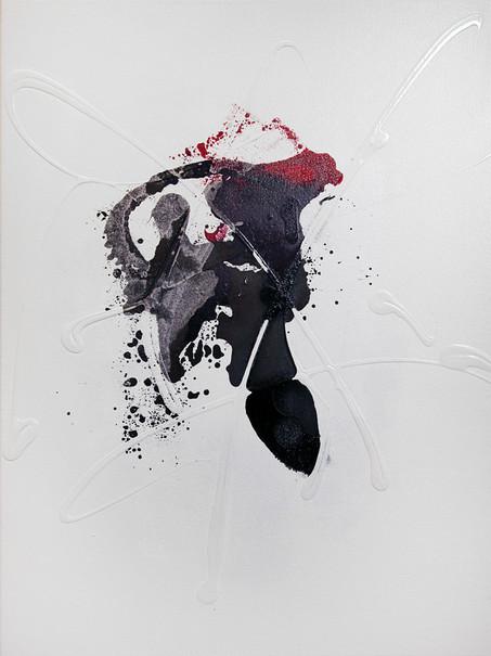 Ink Painting - Magenta 2