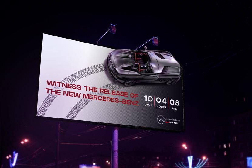 billboard mercedez benz