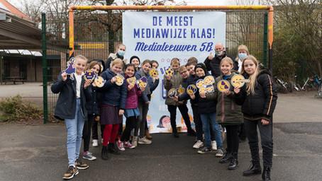 Klas 5B van de Vrije Basisschool De Leeuwuit Zedelgem is de Meest mediawijze klas van Vlaanderen!