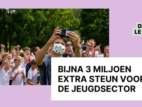 Bijna 3 miljoen euro extra steun voor de jeugdsector