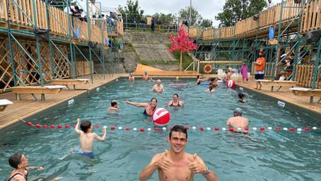 Meer dan 11.000 zwemmers in Brussels openluchtzwembad FLOW
