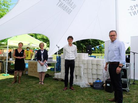 Meer dan 15.600 hygiënepakketten voor jeugdverenigingen op kamp