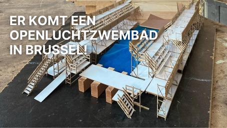 Er komt een openluchtzwembad in Brussel!