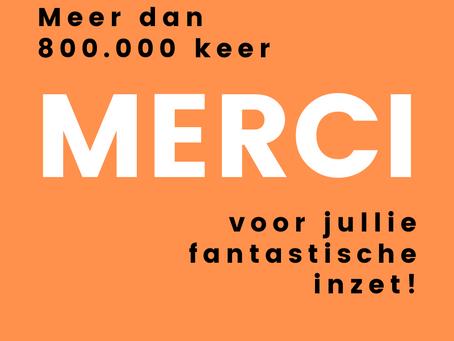 Meer dan 800.000 vrijwilligers in Vlaanderen en Brussel!