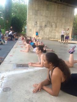 cast learning choreography