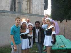 cast before the show