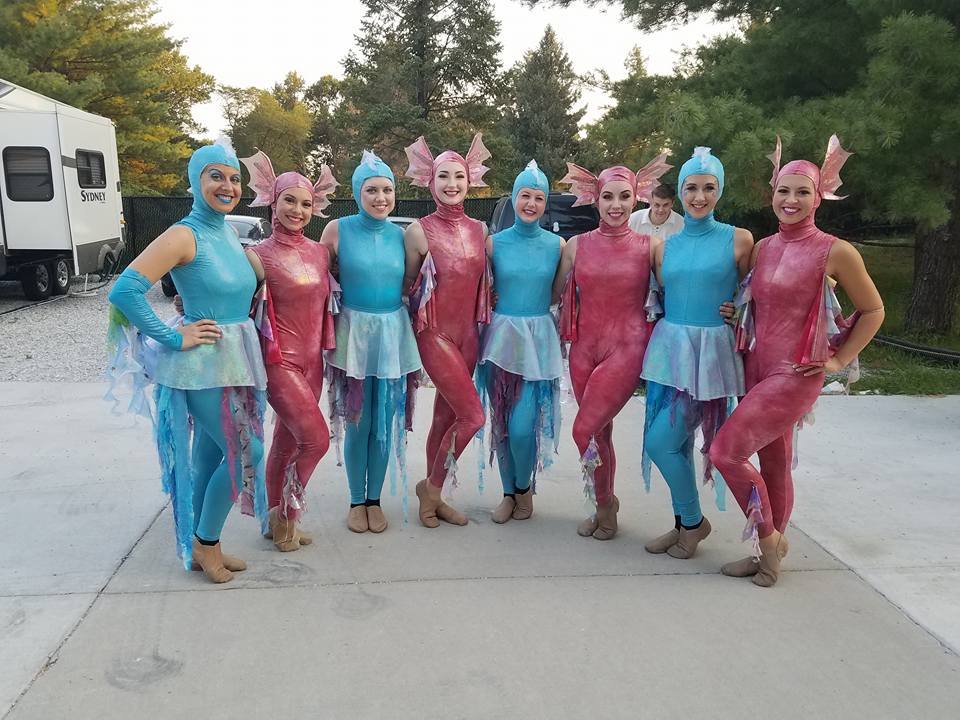 cast dressed like fishes