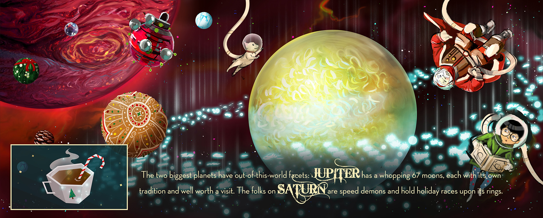 Jupiter + Saturn