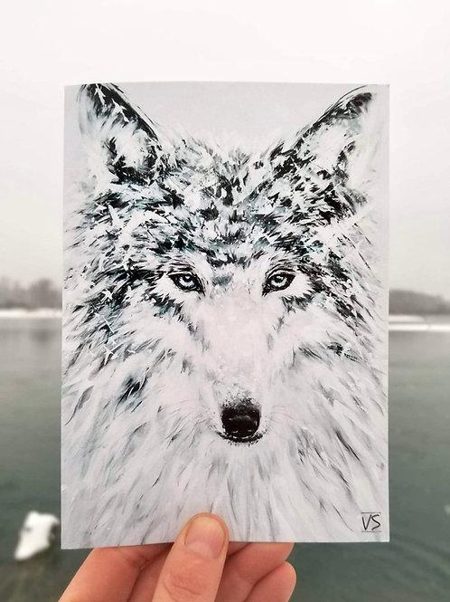 Mr.wolf greeting card