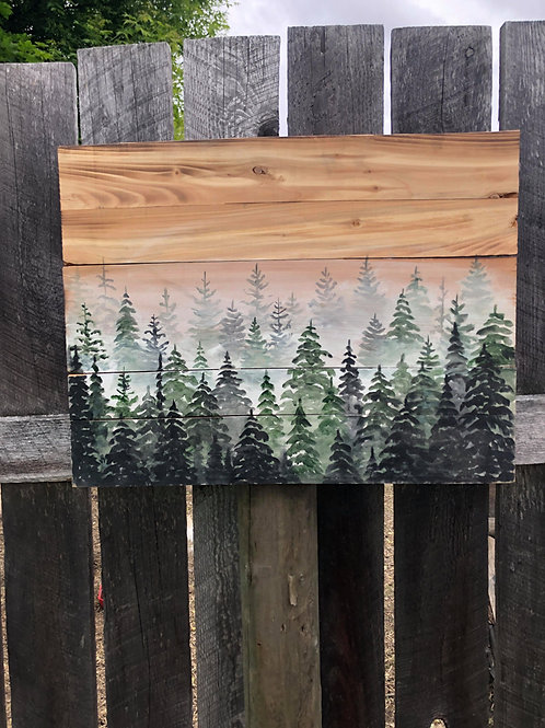 Original painting on wood