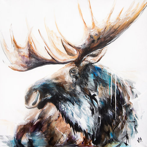THE MAJESTIC MOOSE Paper Prints