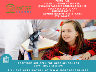 Looking for Principal, Teachers & Staff for 2019 - 2020