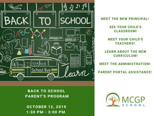 Back to School Parent's Program