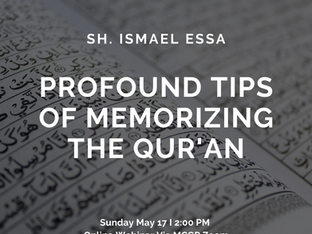 Special Webinar: Profound Tips of Memorizing The Qur'an