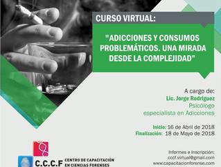 """Curso Virtual """"Adicciones y Consumos Problemáticos: una mirada desde la complejidad"""""""