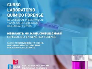 "Curso ""Laboratorio Químico Forense: evidencias biológicas"""