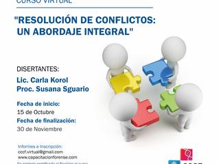 "Curso virtual: ""Resolución de Conflictos: Un abordaje Integral"""