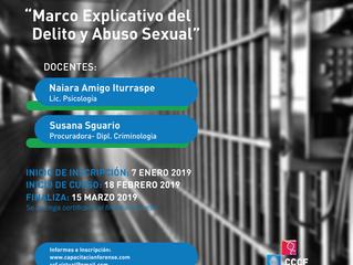 """Curso virtual """"Marco Explicativo del Delito y Abuso Sexual"""""""
