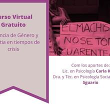 """Curso Virtual Gratuito: """"Violencia de Género. Empatía en tiempos de crisis"""""""