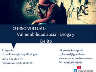 """Curso virtual: """"Vulnerabilidad Social: Droga y Delito"""""""