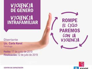 """Curso virtual """"Violencia de género-violencia intrafamiliar"""""""