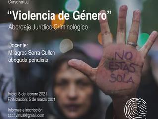 """Curso virtual: """"Violencia de Género"""". Un abordaje jurídico-criminológico"""