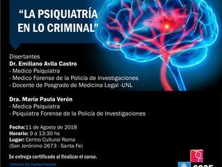 Curso La Psiquiatria en lo criminal