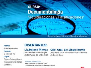 Curso Documentologia: adulteraciones y falsificaciones