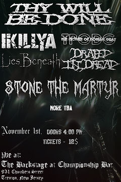 Stone the martyr Flyer 2