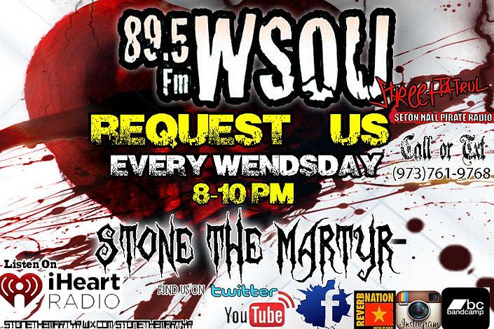 stone the martyr Request 89.5 WSOU street patrol seton hall pirate radio