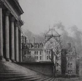Widener Library and Weld Hall