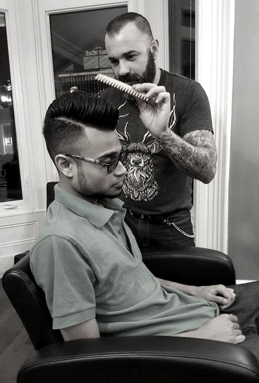 Severus is a talented hairstylist with 20 years' experience, recognized by clients from Canada, Europe, and the Middle East.  Located at 396 King Street E, Toronto ON. Free consultation: (647) 617-9838