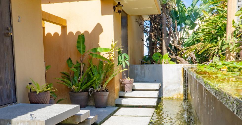 hotel cavaの水庭