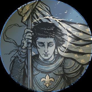 Saint Joan of Arc Metallic Gold