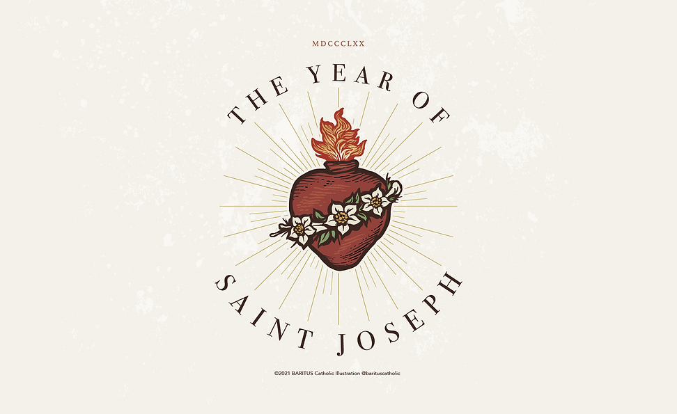 The Year of Saint Joseph by BARITUS Catholic Illustration