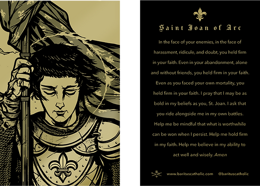 Joan of Art Gold Prayer Card
