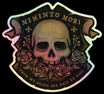 Memento Mori Holographic Copper Toned