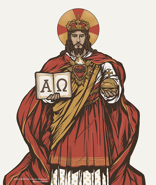 Ave Christus Rex by BARITUS Catholic Illustration